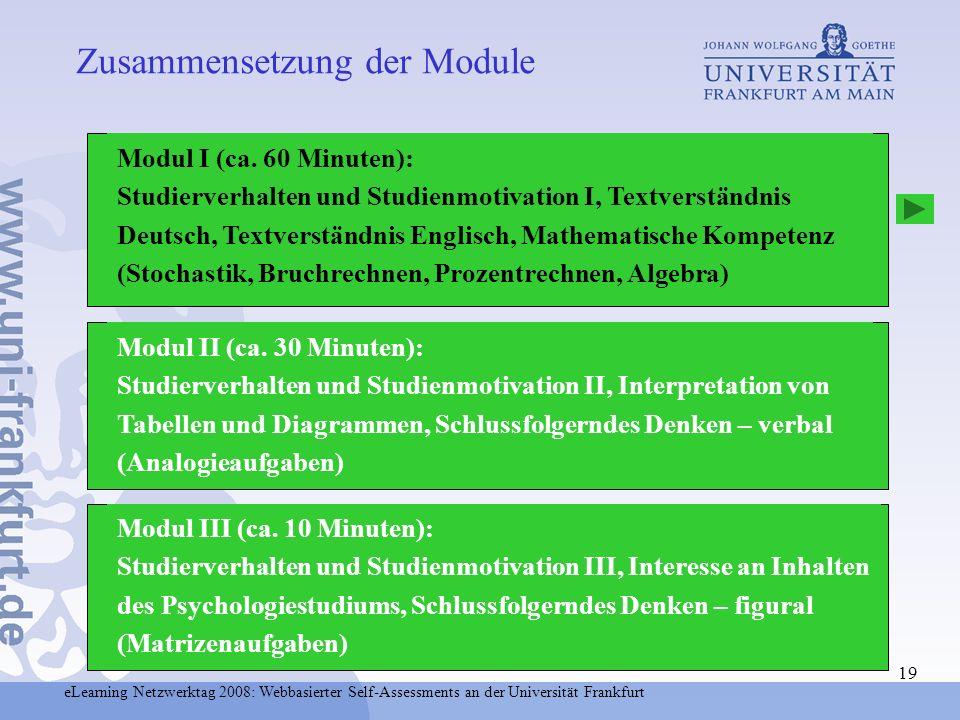 Zusammensetzung der Module
