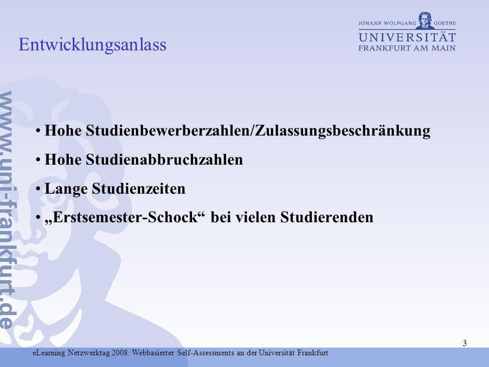 Entwicklungsanlass Hohe Studienbewerberzahlen/Zulassungsbeschränkung