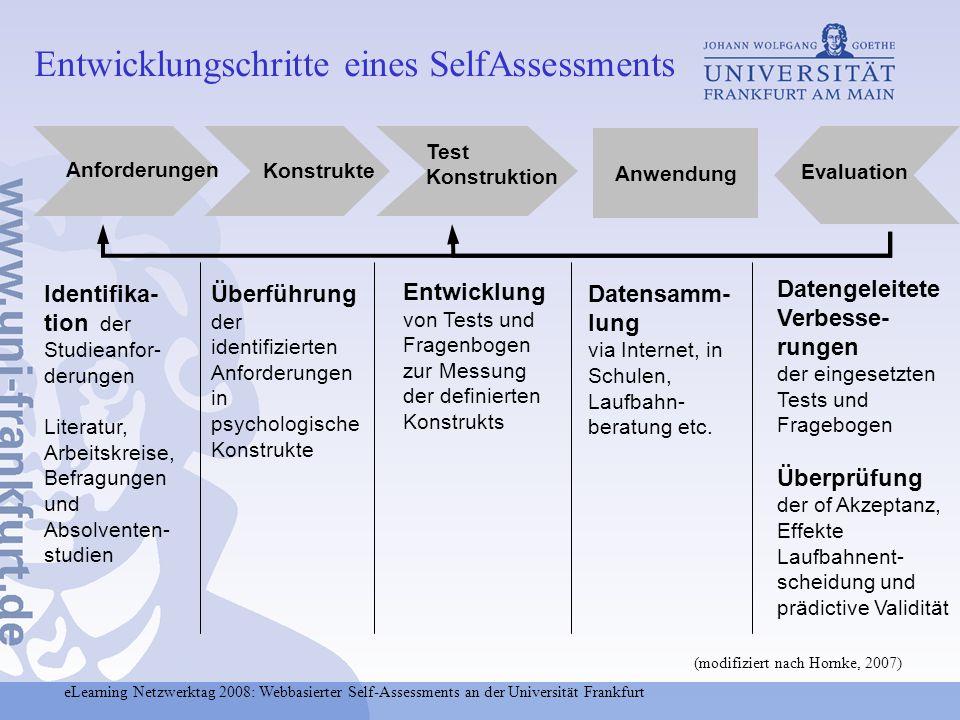 Entwicklungschritte eines SelfAssessments