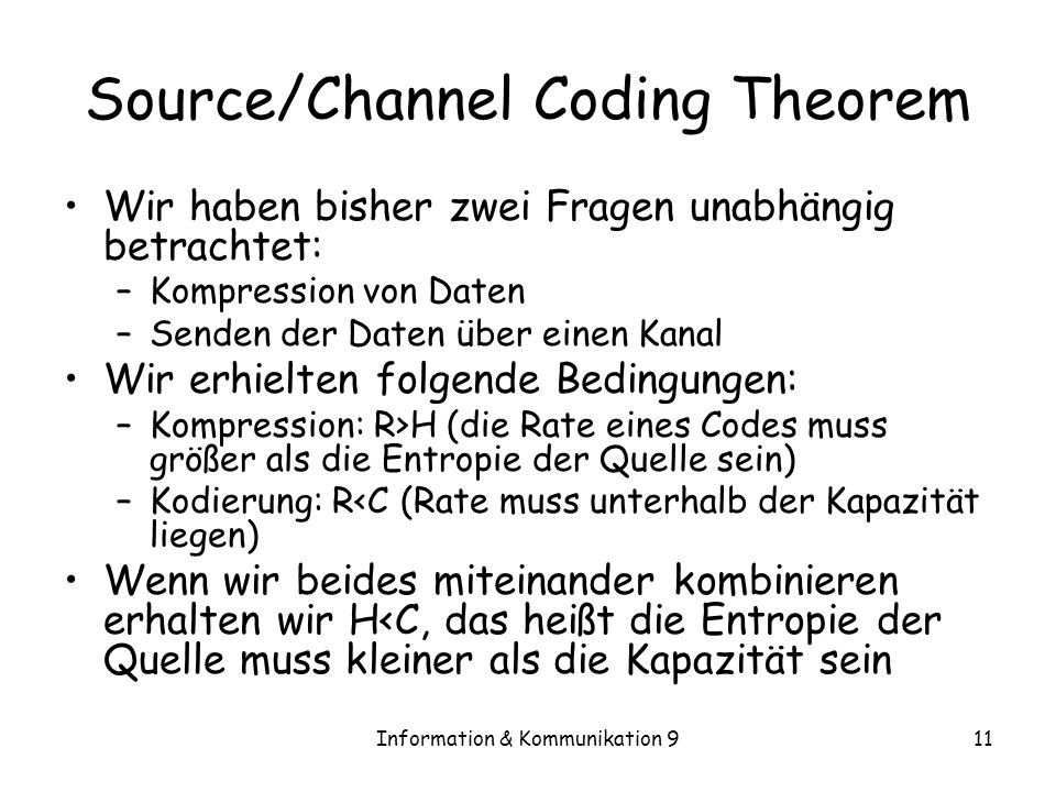 Source/Channel Coding Theorem