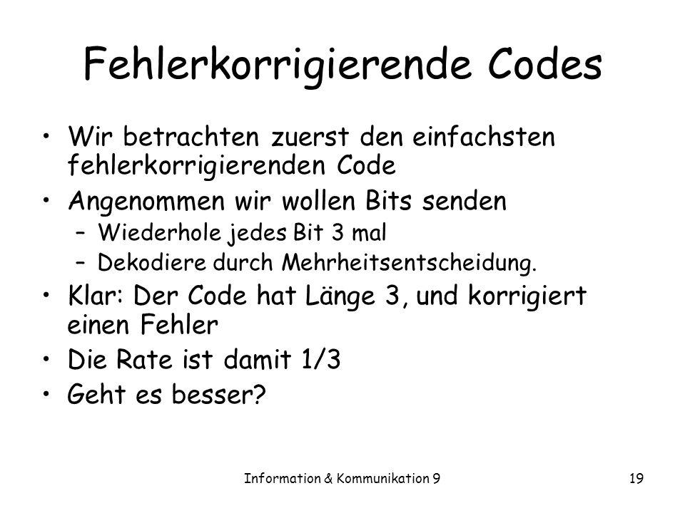 Fehlerkorrigierende Codes