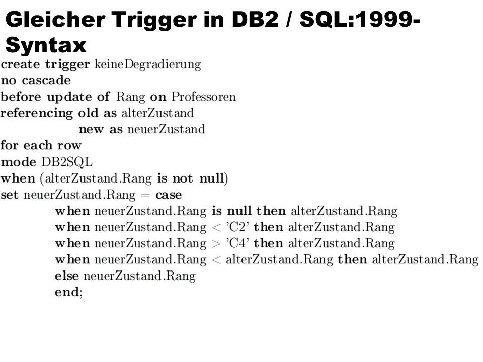 Gleicher Trigger in DB2 / SQL:1999-Syntax