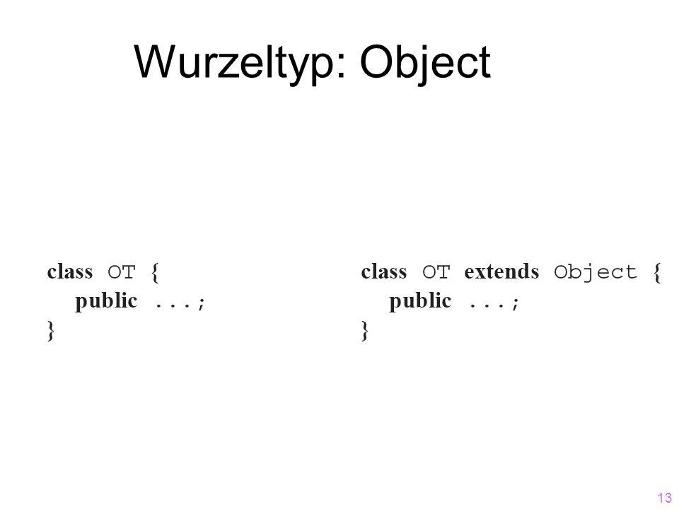 Wurzeltyp: Object
