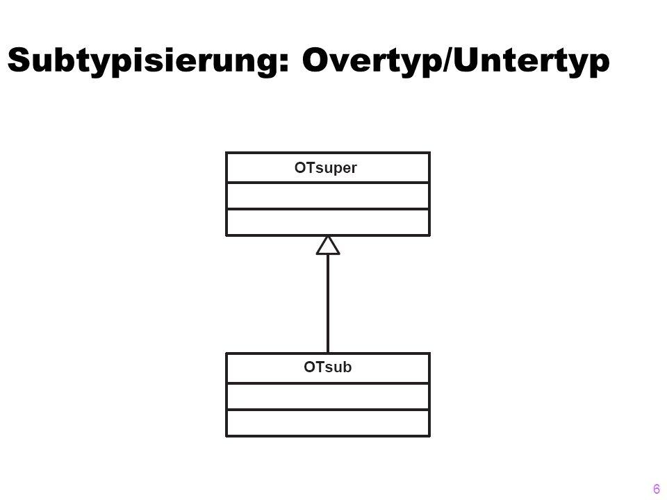 Subtypisierung: Overtyp/Untertyp