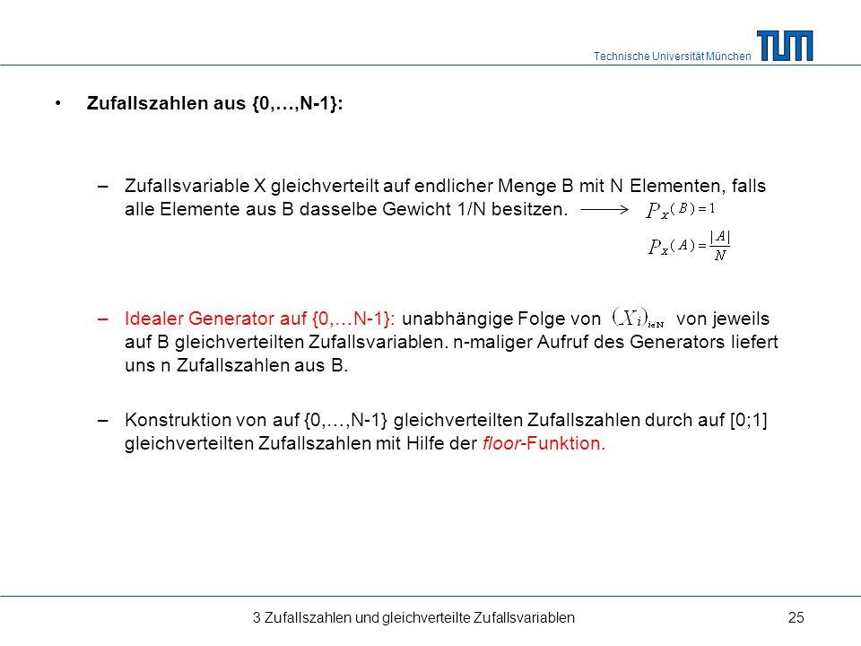 Zufallszahlen aus {0,…,N-1}: