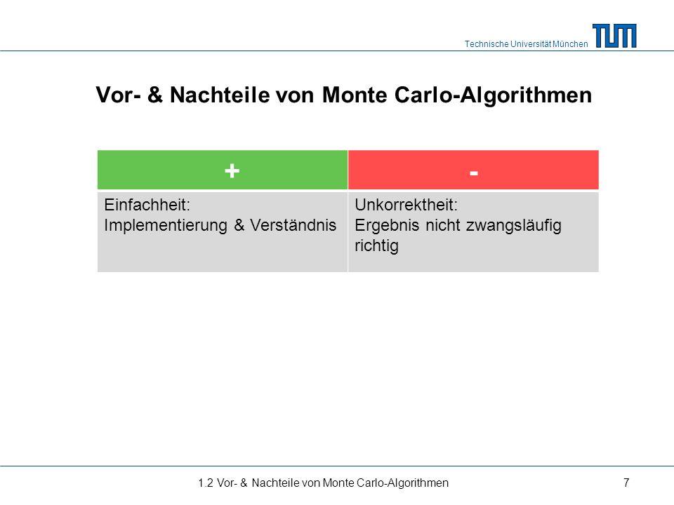 Vor- & Nachteile von Monte Carlo-Algorithmen