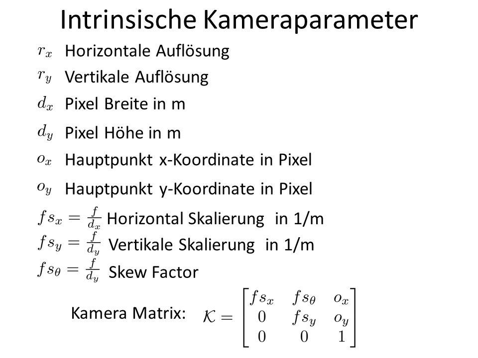 Intrinsische Kameraparameter