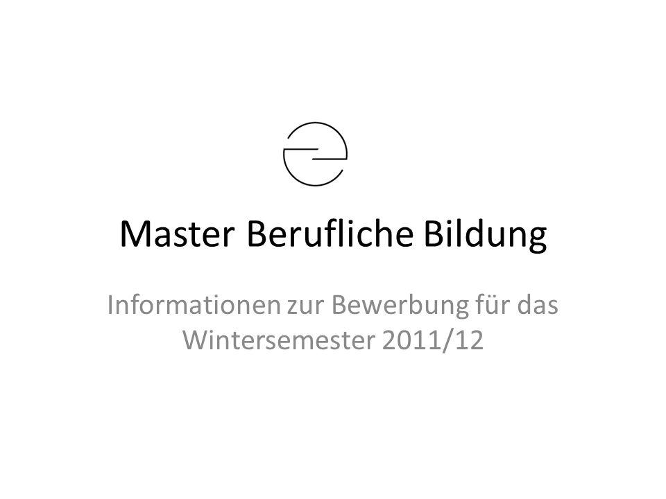 Master Berufliche Bildung