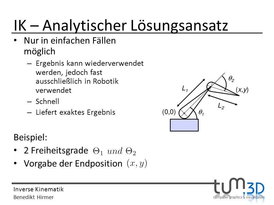 IK – Analytischer Lösungsansatz