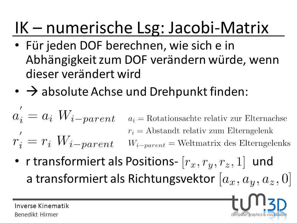 IK – numerische Lsg: Jacobi-Matrix