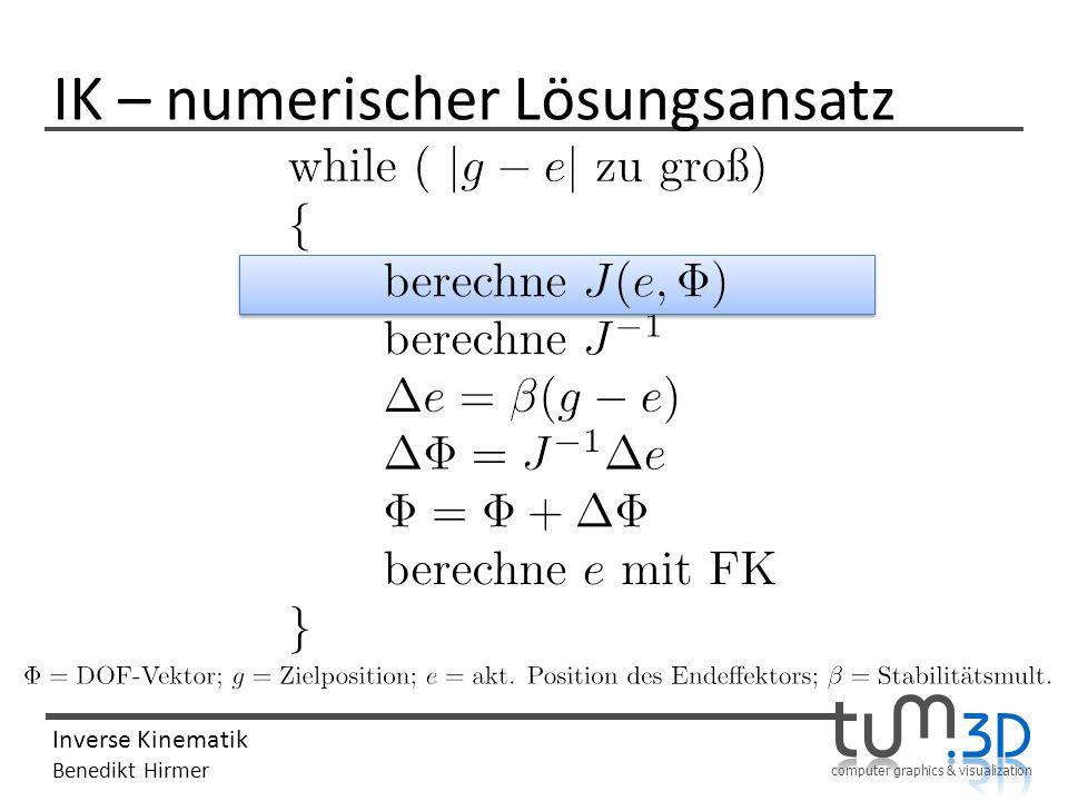 IK – numerischer Lösungsansatz