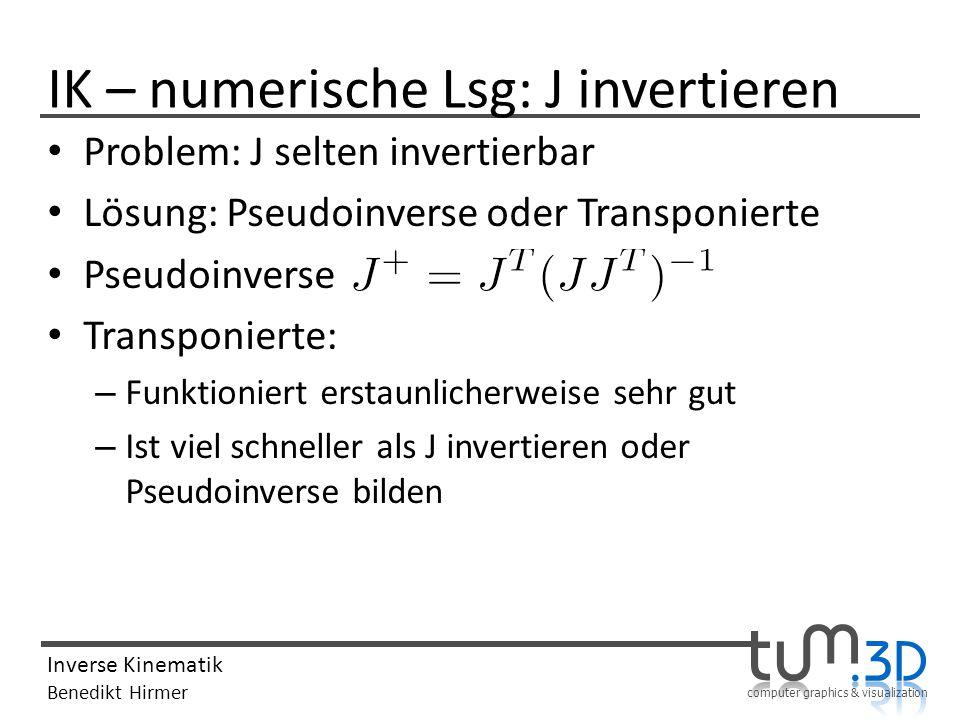 IK – numerische Lsg: J invertieren
