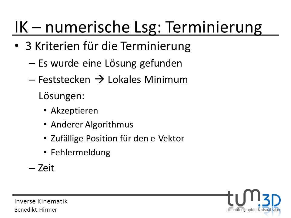 IK – numerische Lsg: Terminierung