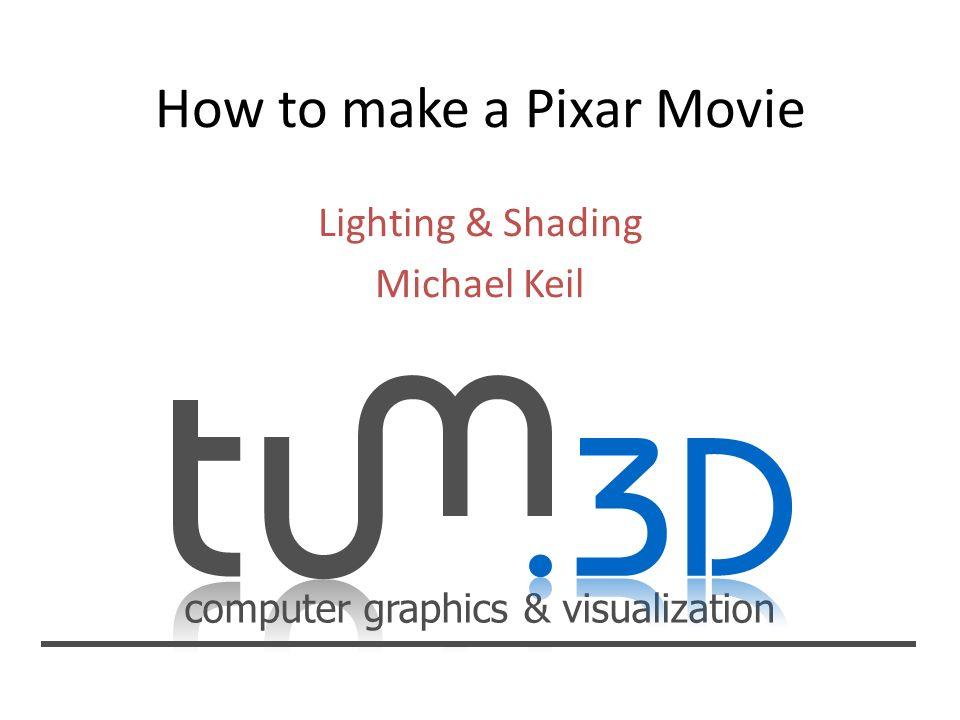 How to make a Pixar Movie