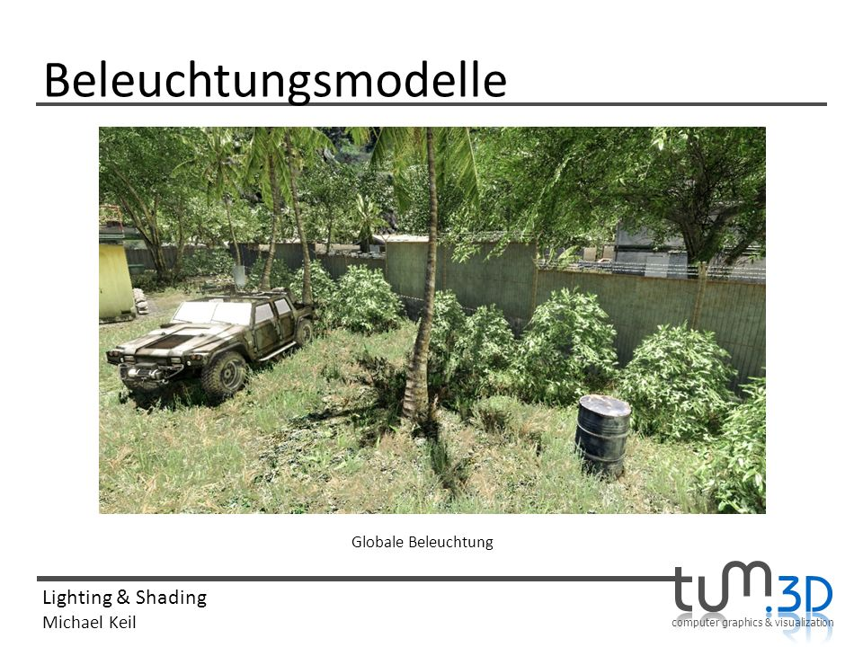 Beleuchtungsmodelle Globale Beleuchtung