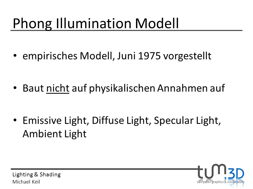 Phong Illumination Modell