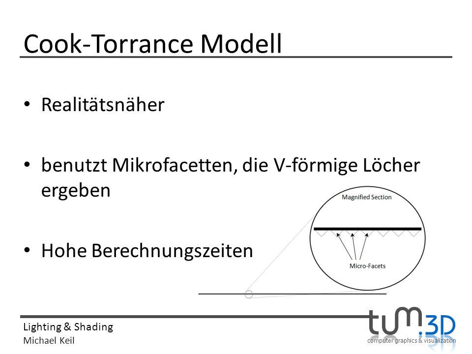 Cook-Torrance Modell Realitätsnäher