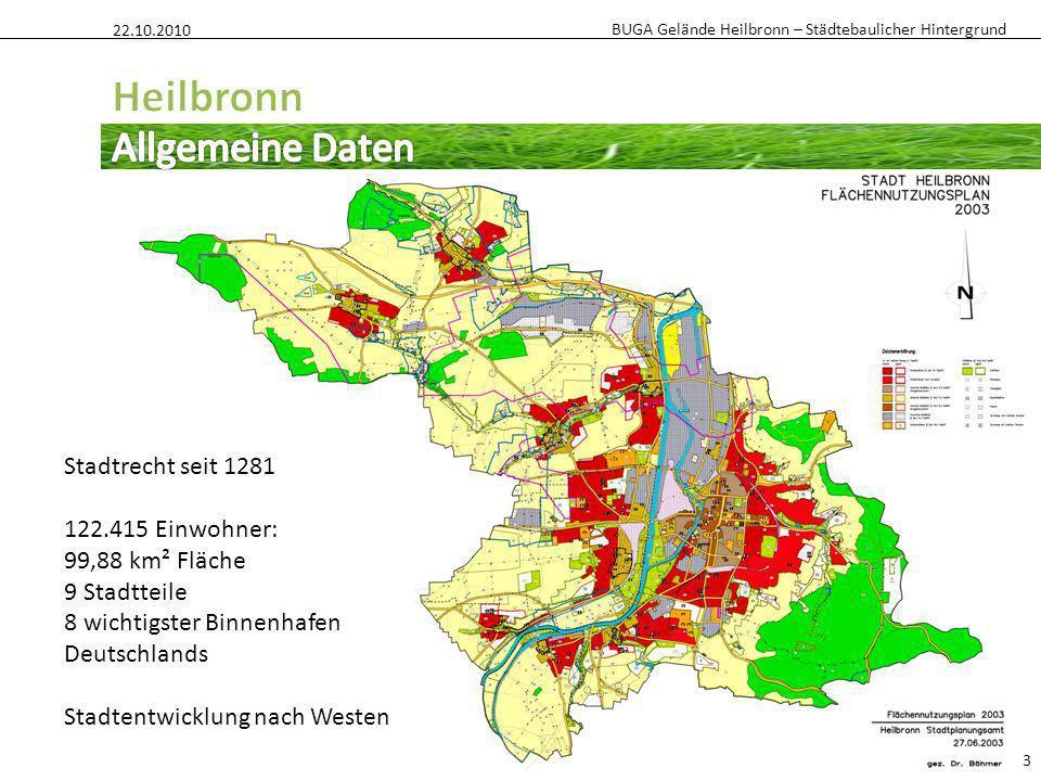Heilbronn Allgemeine Daten Stadtrecht seit 1281 122.415 Einwohner: