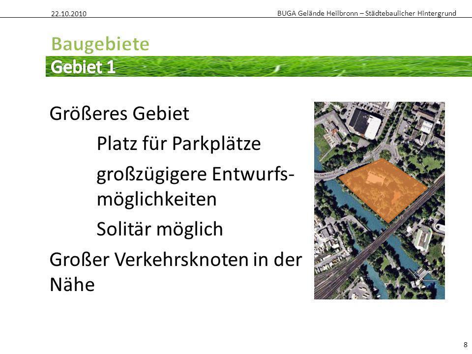 22.10.2010 Baugebiete. Gebiet 1.