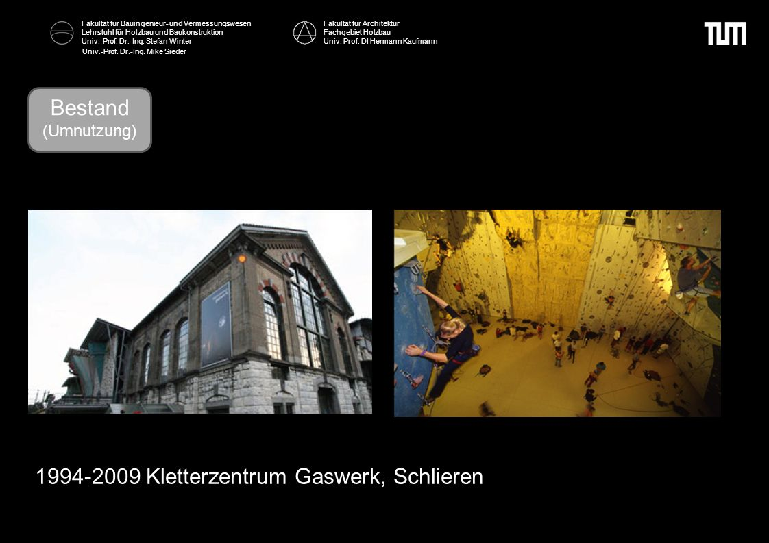 1994-2009 Kletterzentrum Gaswerk, Schlieren