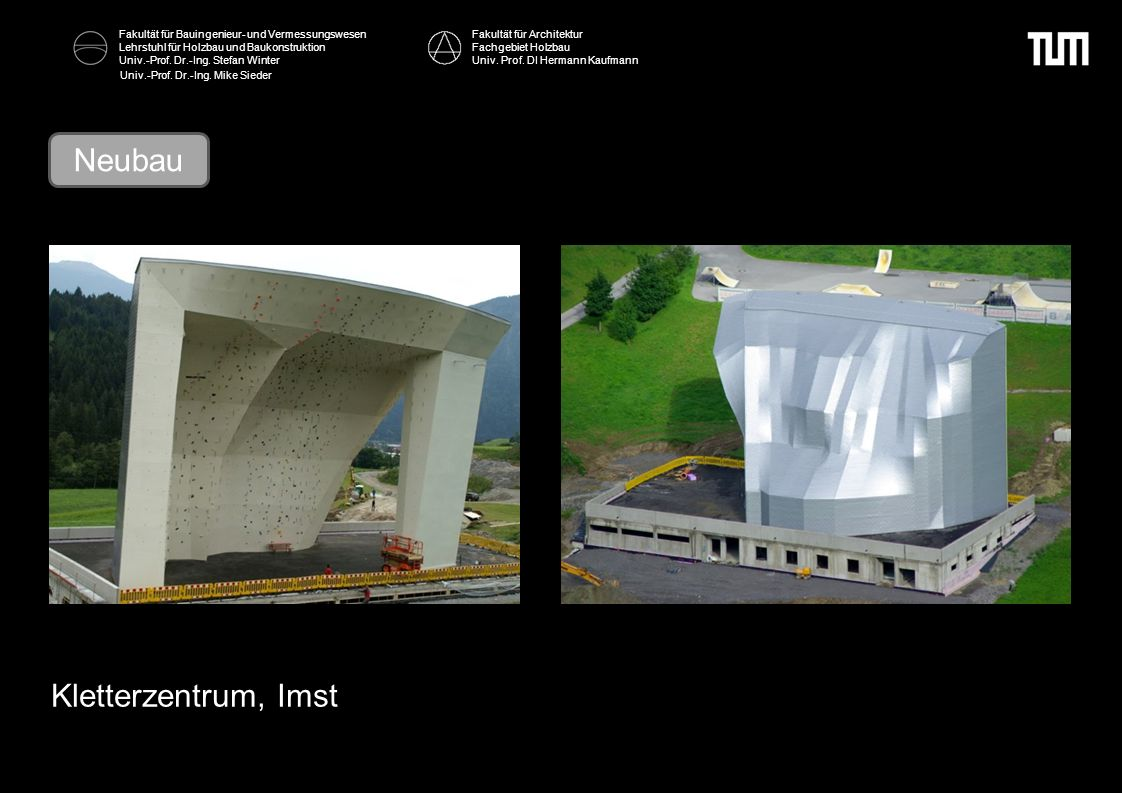 Neubau Kletterzentrum, Imst Fakultät für Architektur