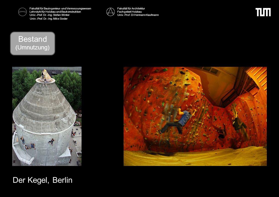 Bestand Bestand Der Kegel, Berlin (Umnutzung) Fakultät für Architektur