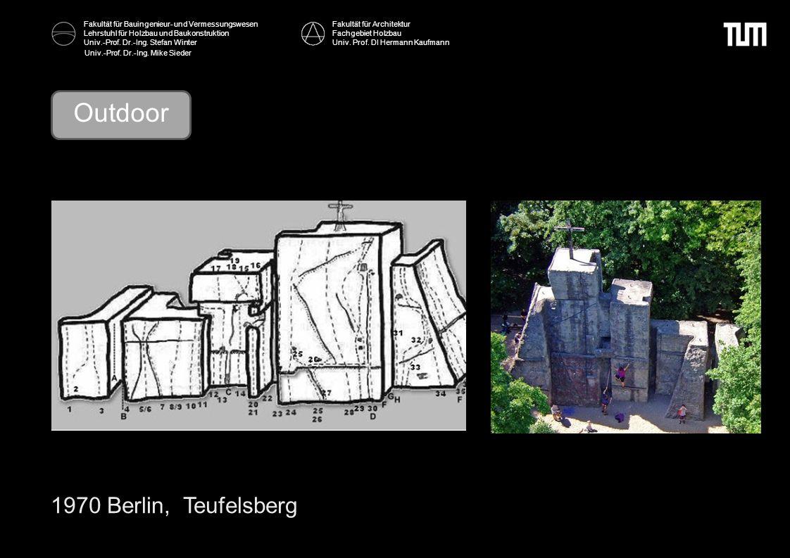 Outdoor 1970 Berlin, Teufelsberg Fakultät für Architektur