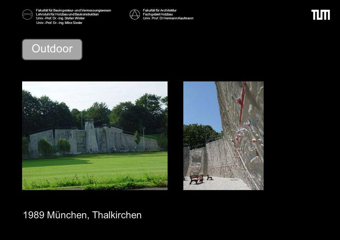 Outdoor 1989 München, Thalkirchen Fakultät für Architektur