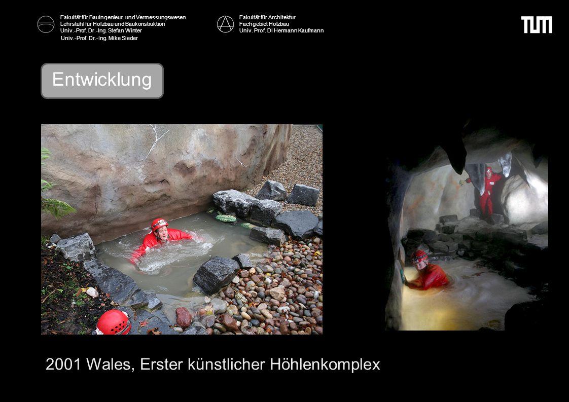 Entwicklung 2001 Wales, Erster künstlicher Höhlenkomplex