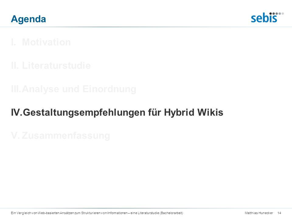 Analyse und Einordnung Gestaltungsempfehlungen für Hybrid Wikis