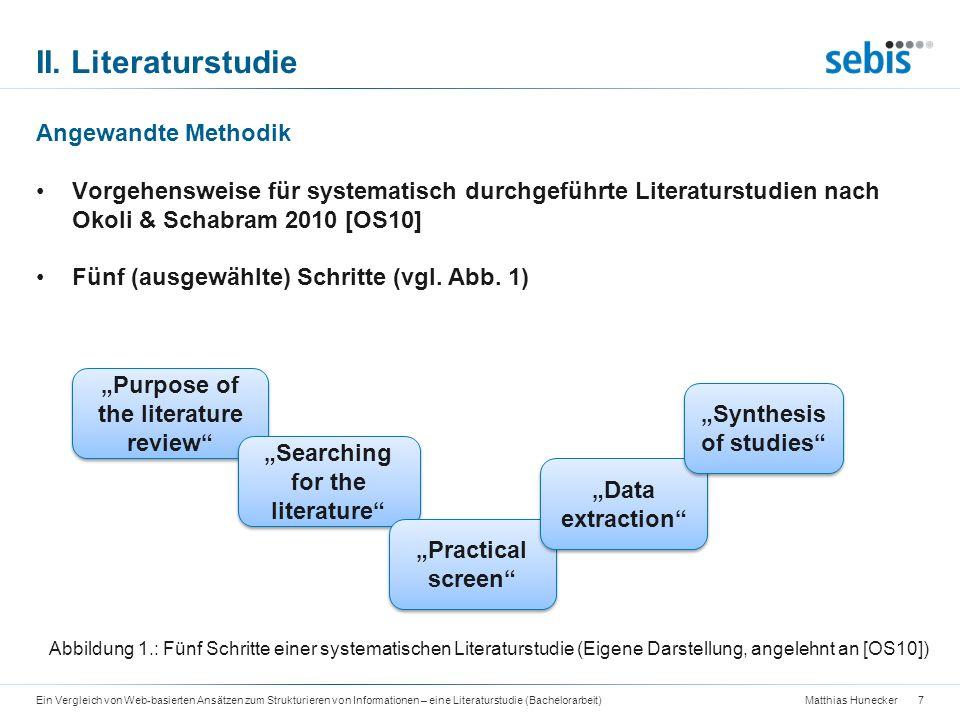 II. Literaturstudie Angewandte Methodik