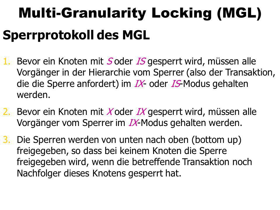 Multi-Granularity Locking (MGL)