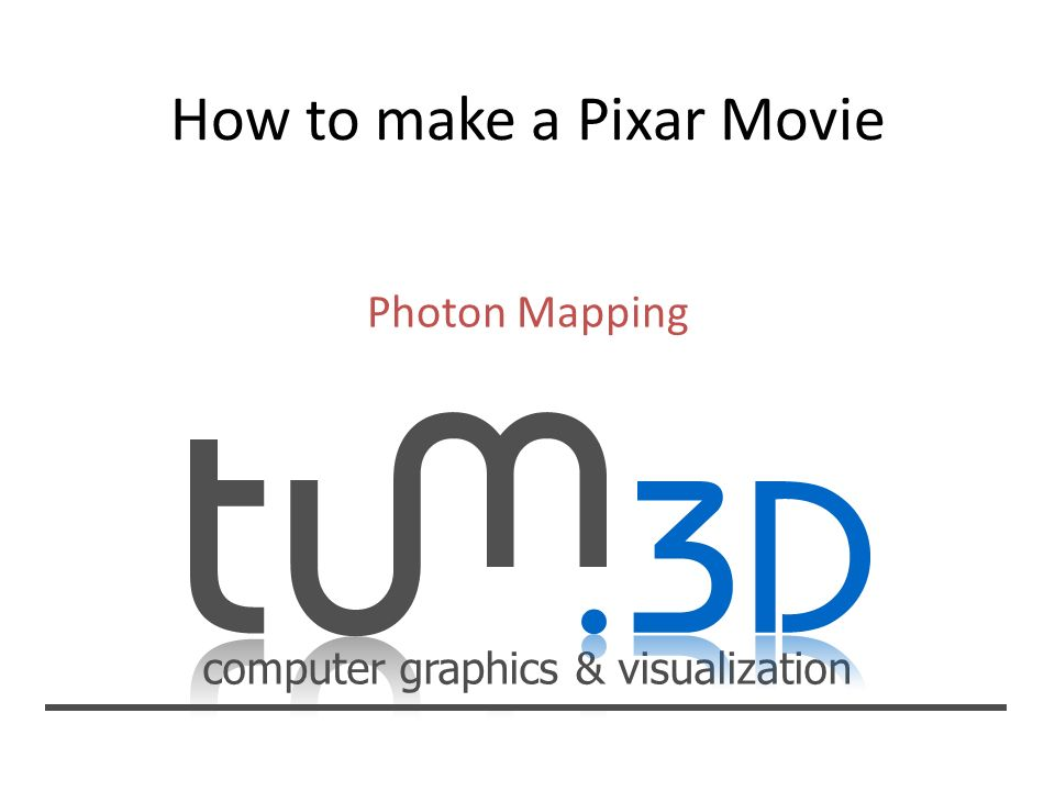 How to make a Pixar Movie