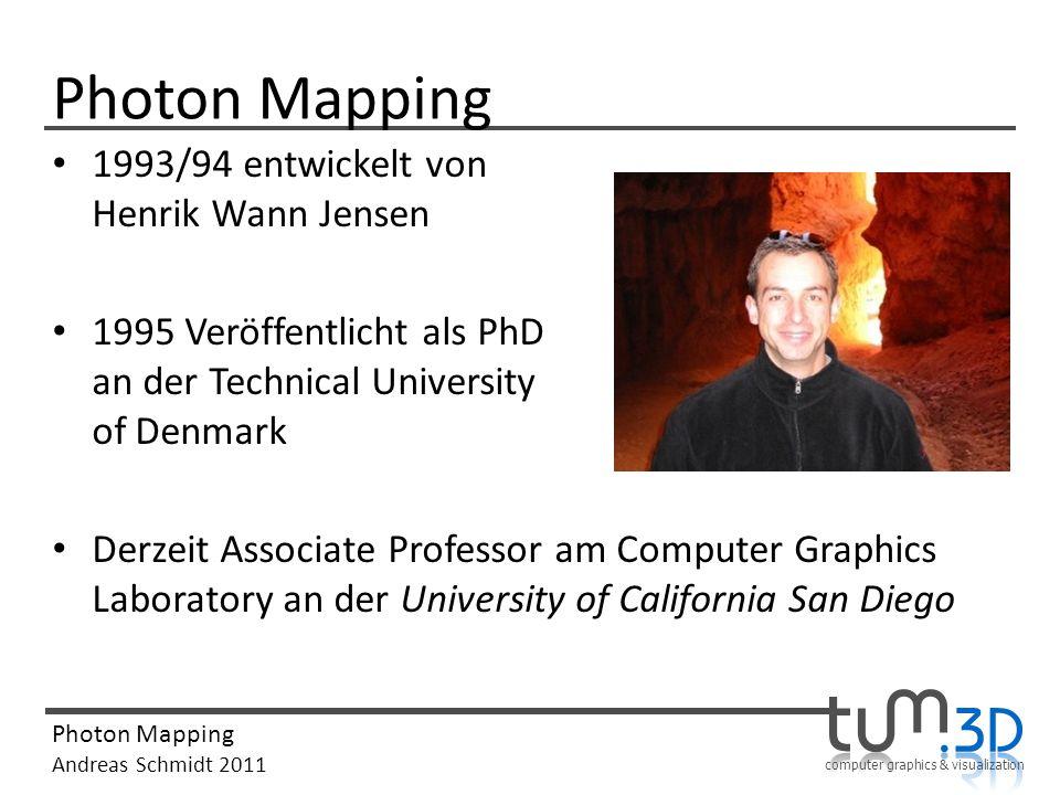 Photon Mapping 1993/94 entwickelt von Henrik Wann Jensen
