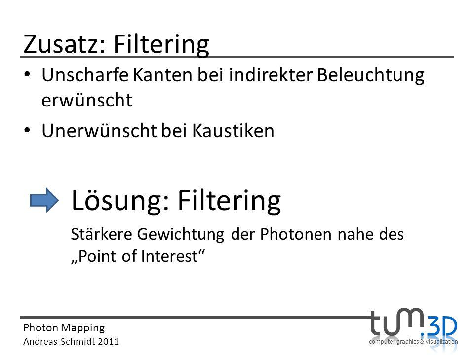 Lösung: Filtering Zusatz: Filtering