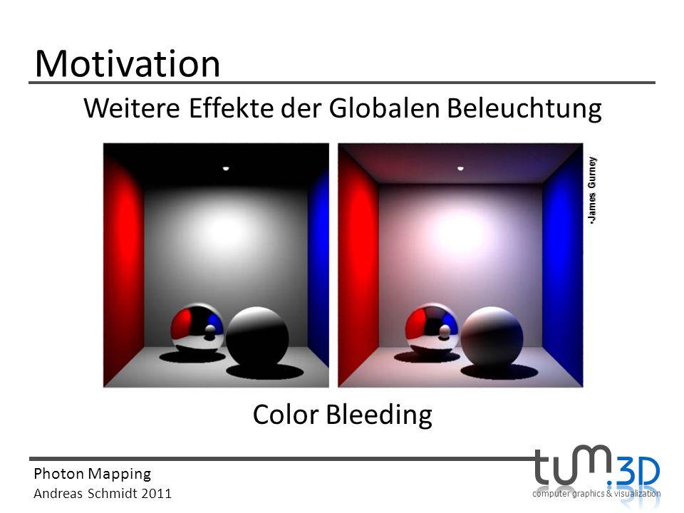 Weitere Effekte der Globalen Beleuchtung Color Bleeding