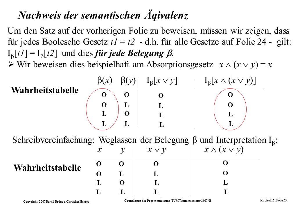 Nachweis der semantischen Äqivalenz