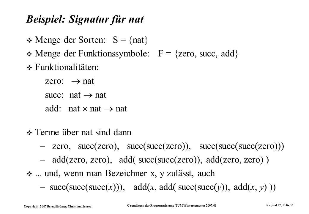 Beispiel: Signatur für nat