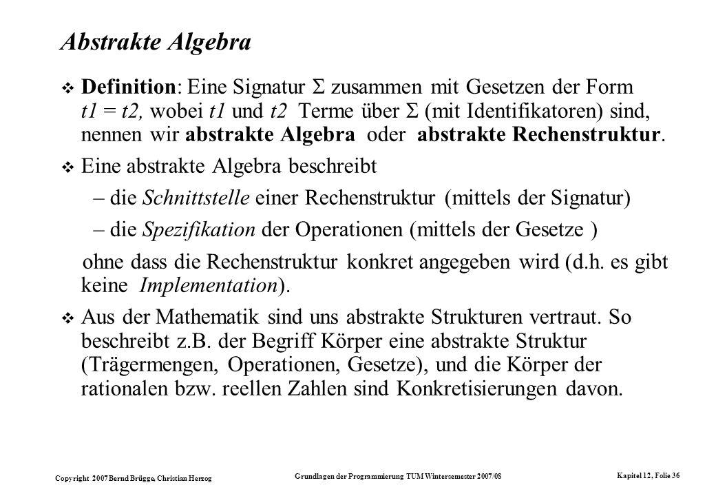 Abstrakte Algebra