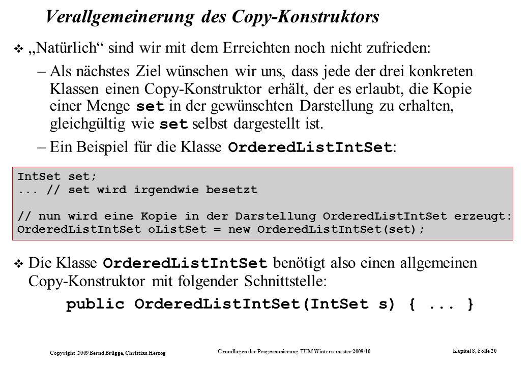 Verallgemeinerung des Copy-Konstruktors