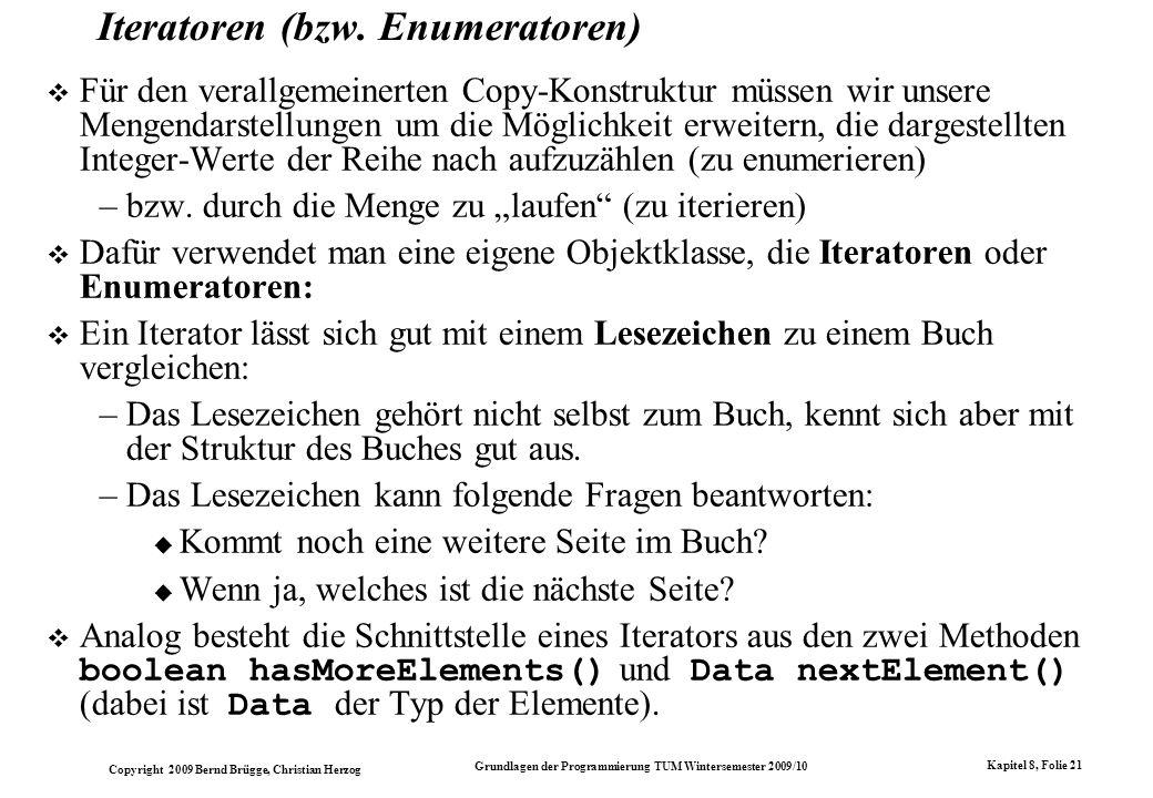 Iteratoren (bzw. Enumeratoren)