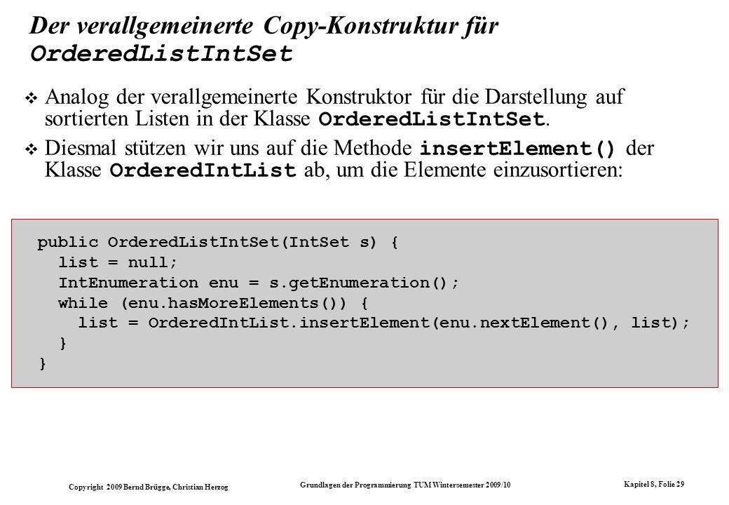 Der verallgemeinerte Copy-Konstruktur für OrderedListIntSet
