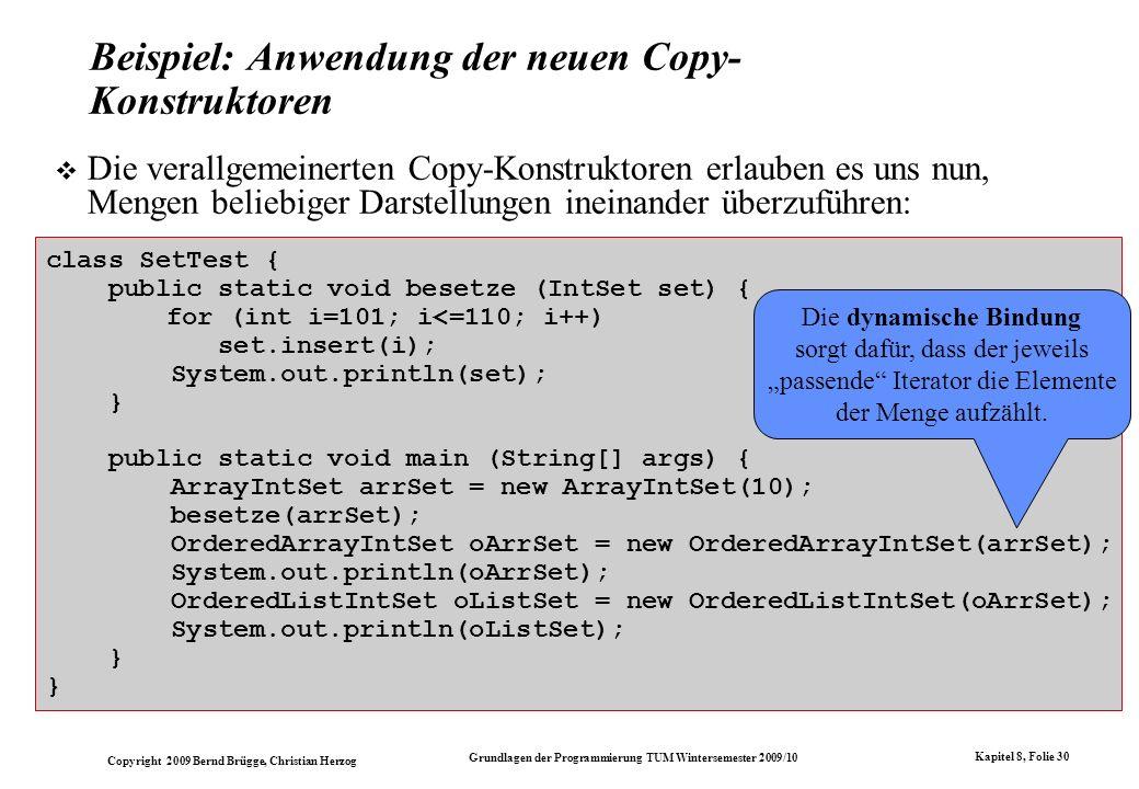 Beispiel: Anwendung der neuen Copy-Konstruktoren