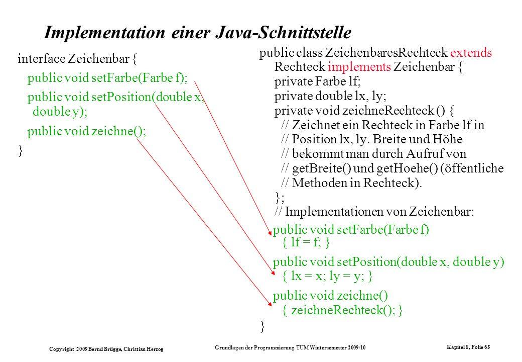 Implementation einer Java-Schnittstelle