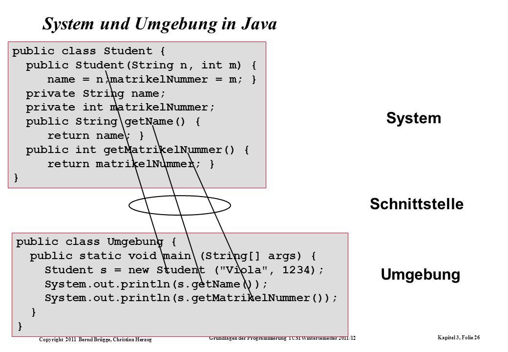 System und Umgebung in Java