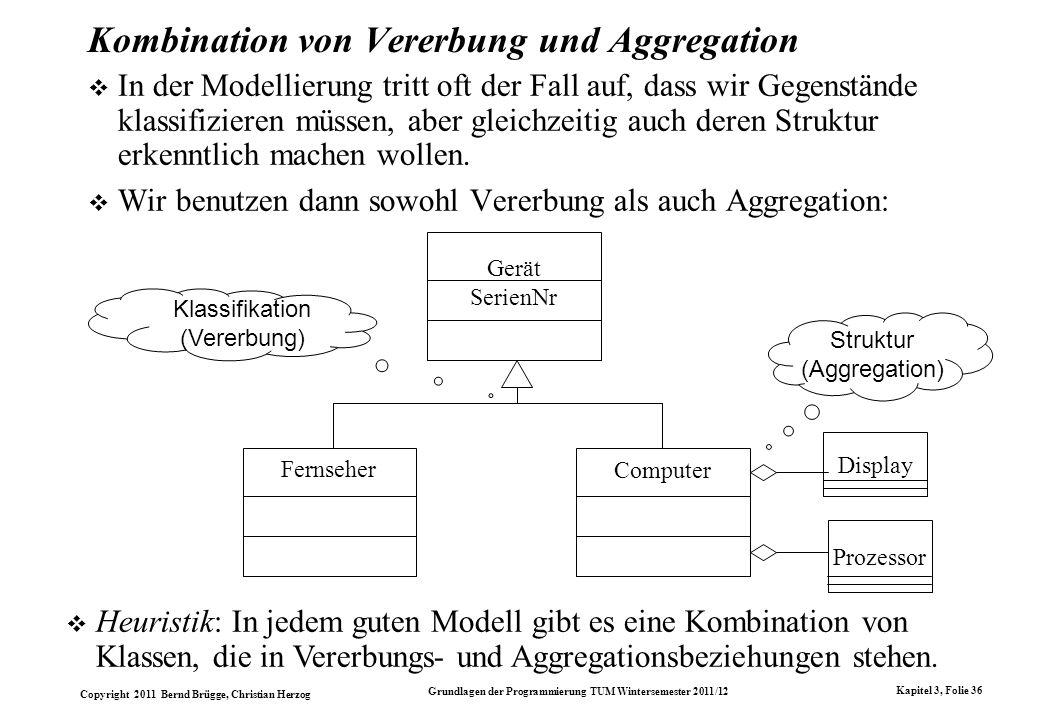 Kombination von Vererbung und Aggregation