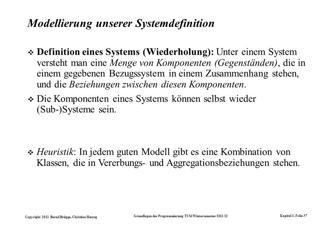 Modellierung unserer Systemdefinition