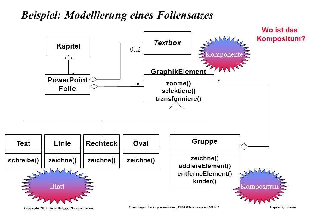 Beispiel: Modellierung eines Foliensatzes