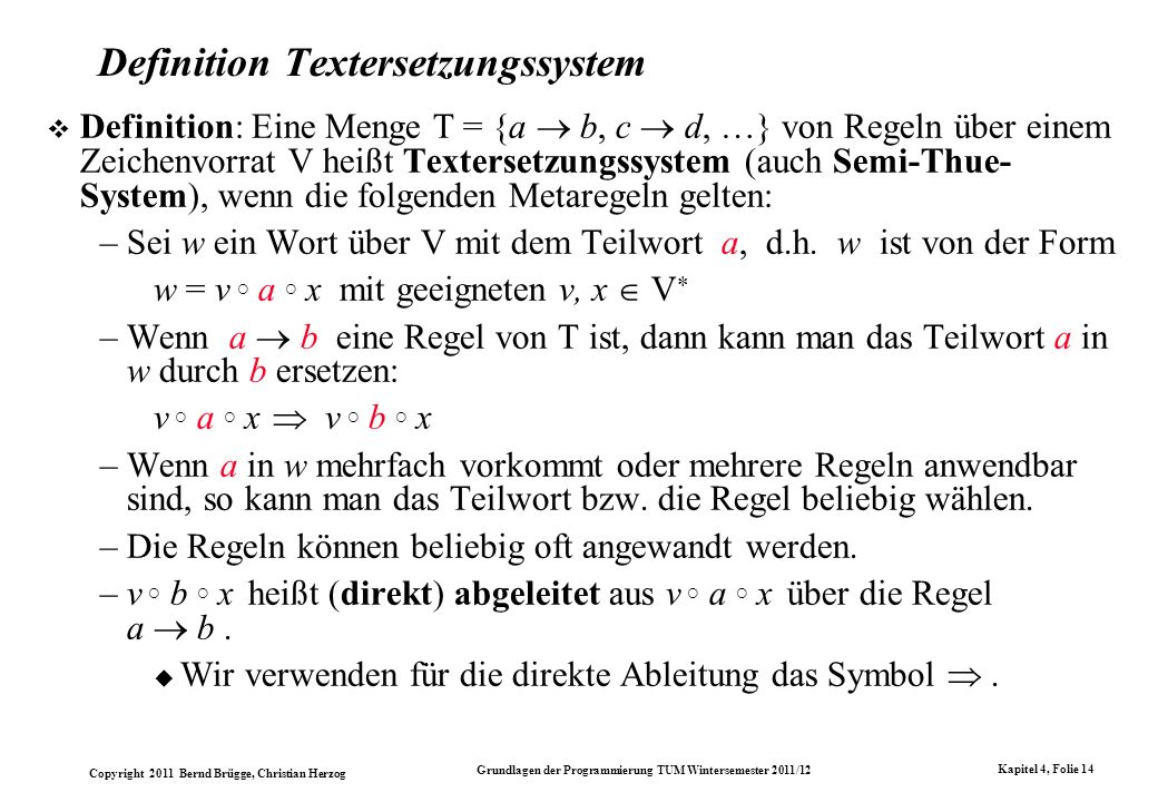 Definition Textersetzungssystem