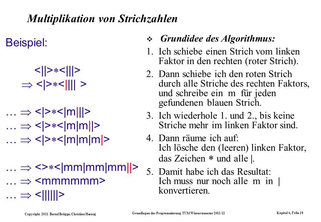 Multiplikation von Strichzahlen